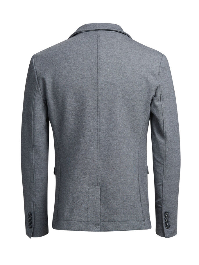 SWEAT BLAZER, Dark Grey Melange, large