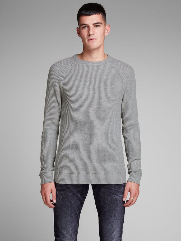 d3e7f010d4f4cc Structured knitted pullover