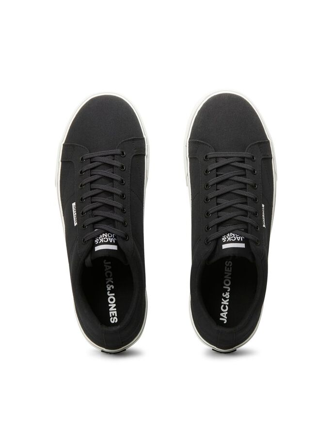 LOGO CANVAS SNEAKERS, Anthracite, large