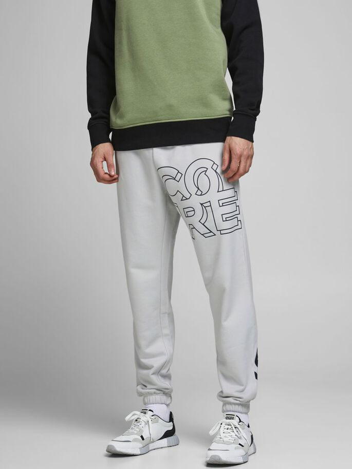 BIG LOGO SWEATPANTS, Glacier Gray, large