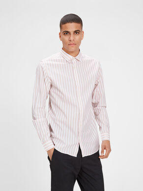 DE ESTILO FORMAL SLIM FIT CAMISA DE MANGA LARGA