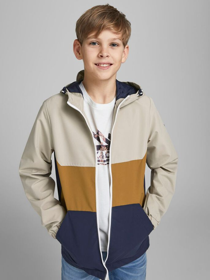 BOYS COLOUR BLOCK JACKET, Crockery, large