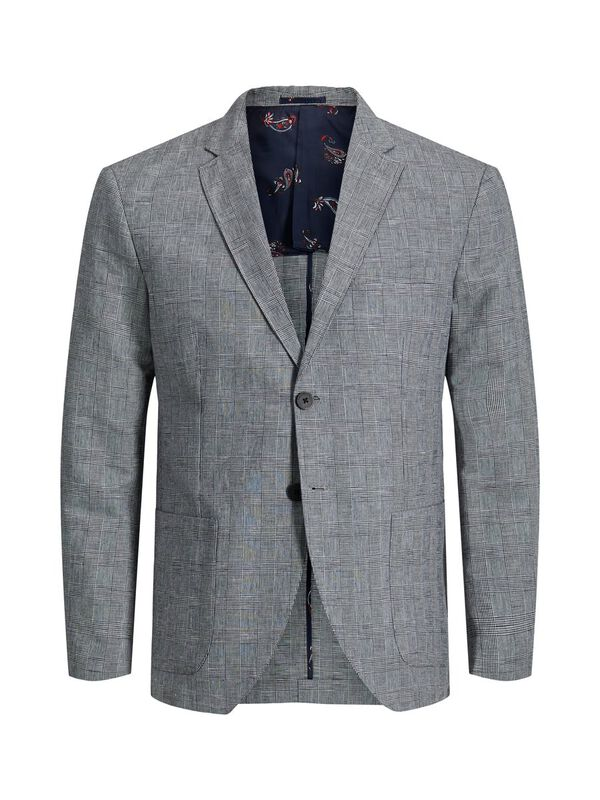 Jack & Jones - Checked Linen Blazer - 1