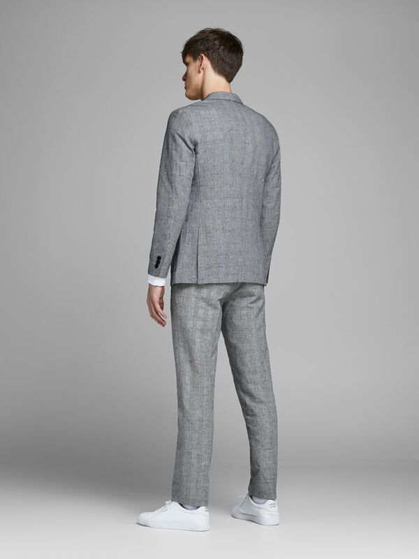 Jack & Jones - Checked Linen Blazer - 4