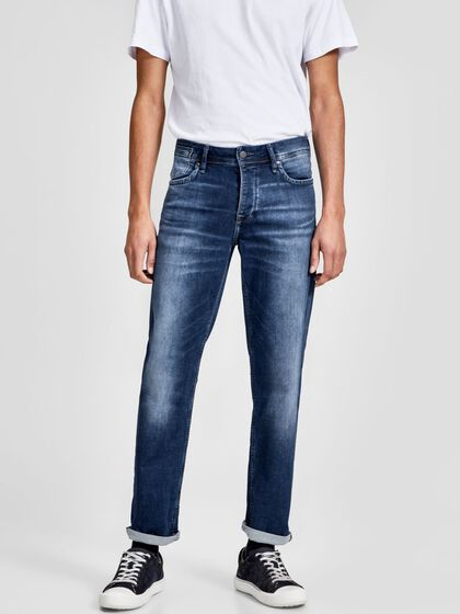 TIM LEON GE 382 INDIGO KNIT JEANS À COUPE SLIM/STRAIGHT