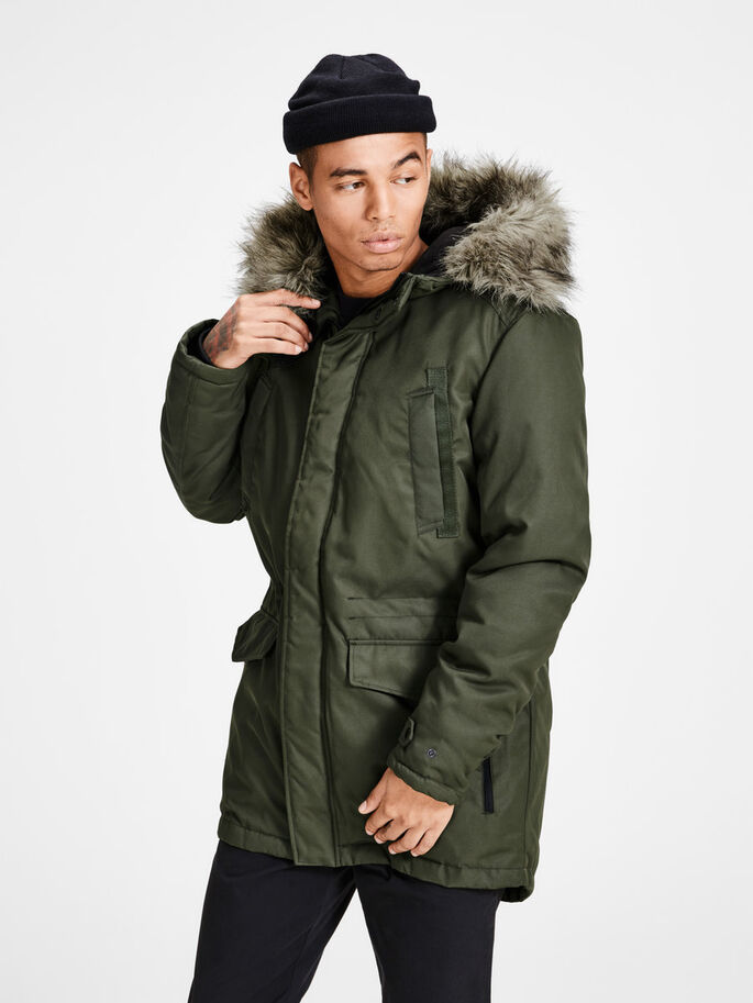 CLASSIC PARKA COAT, Forest Night, large