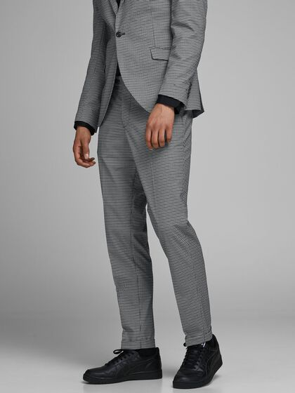 BLALORENZO CHECKED SUPER SLIM FIT SUIT TROUSERS