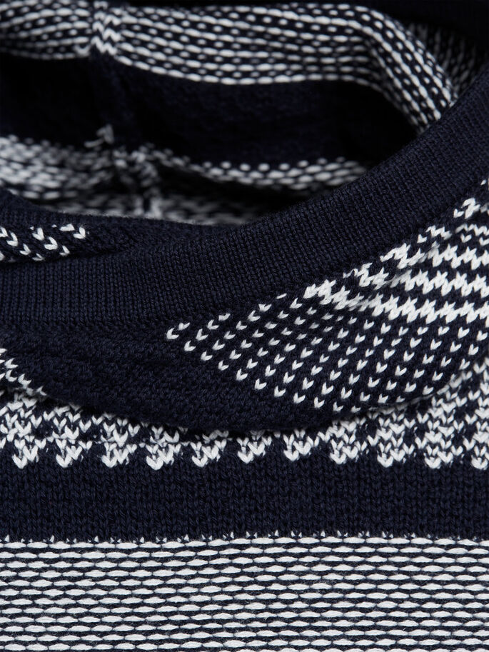 DETAILED KNITTED PULLOVER, Navy Blazer, large