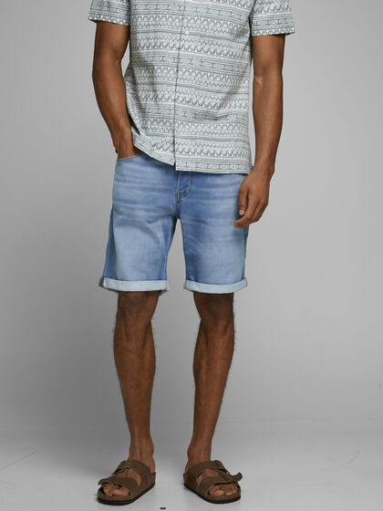 RICK ICON GE 003 INDIGO KNIT SHORTS EN JEAN