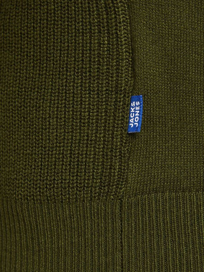 BOYS TEXTURED KNITTED JUMPER, Rifle Green, large