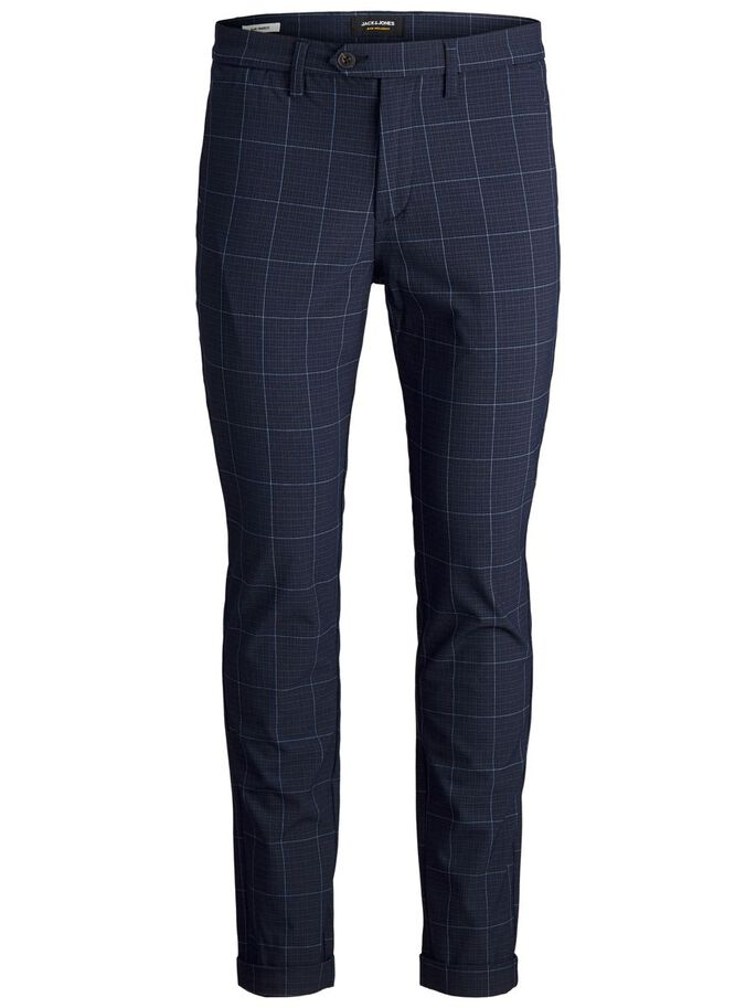 MARCO CONNOR AKM CHECKED CHINO, Total Eclipse, large