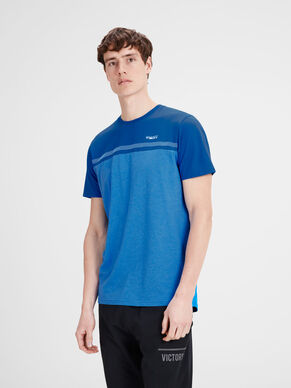 BEDRUCKTES SLIM FIT SPORT- T-SHIRT
