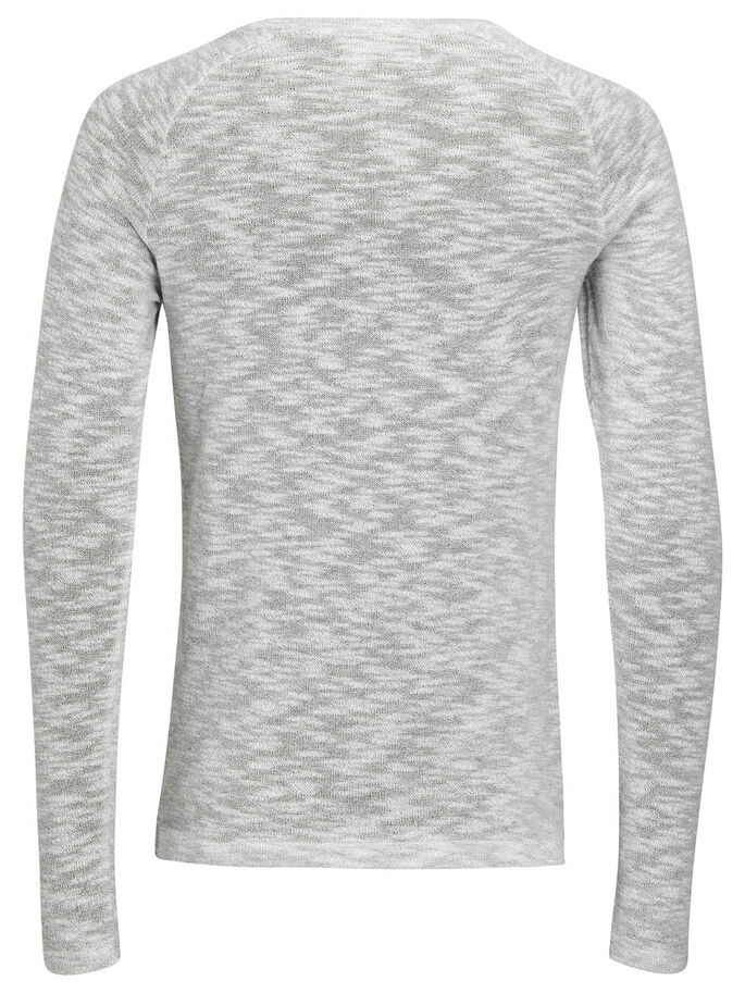 MELANGE SWEATSHIRT, Light Grey Melange, large