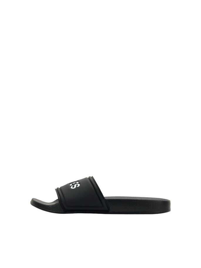 BOYS DEBOSSED LOGO POOL SLIDES, Anthracite, large