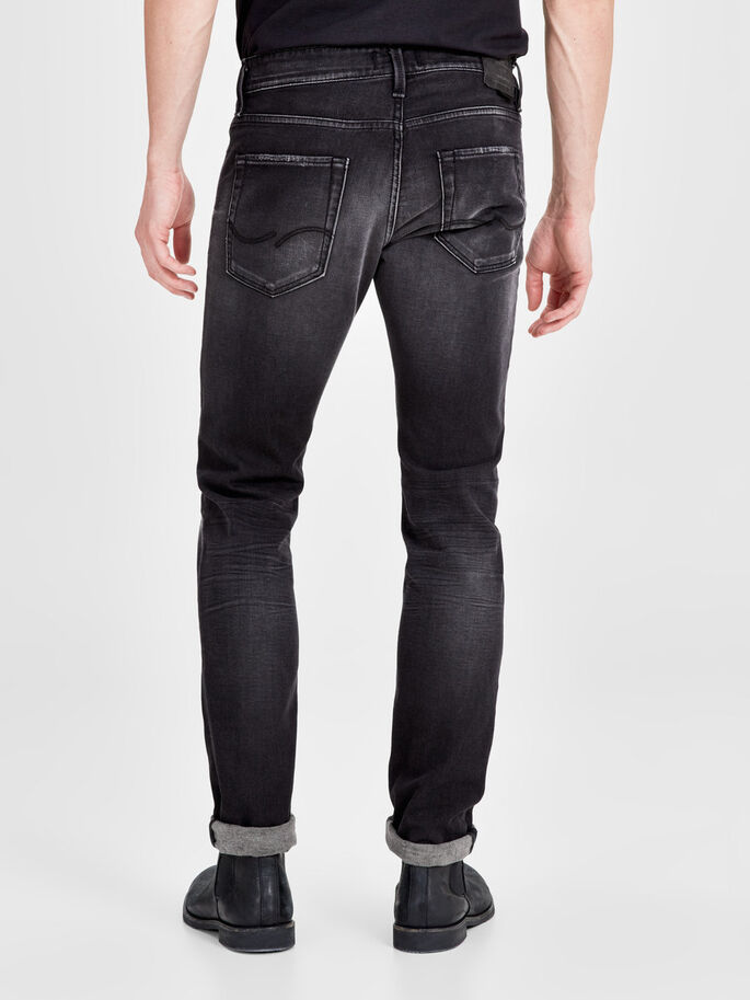 GLENN ICON BL 783 SLIM FIT JEANS, Black Denim, large