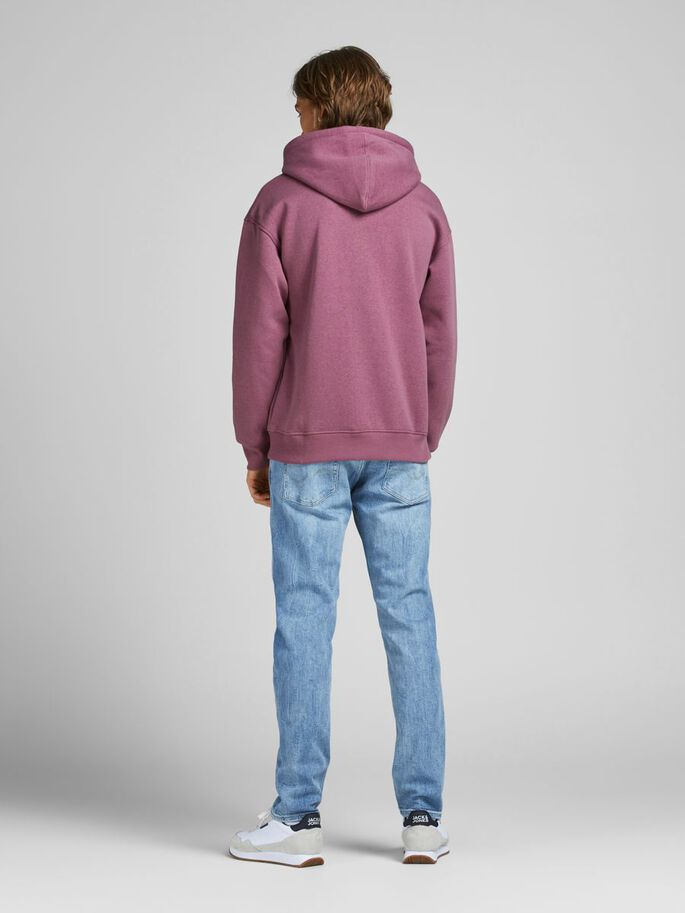 LOOPBACK RELAXED FIT HOODIE, Hawthorn Rose, large