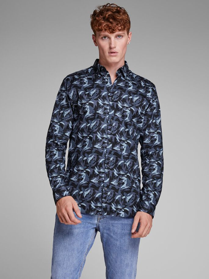 85973155 Slim fit print shirt | JACK & JONES