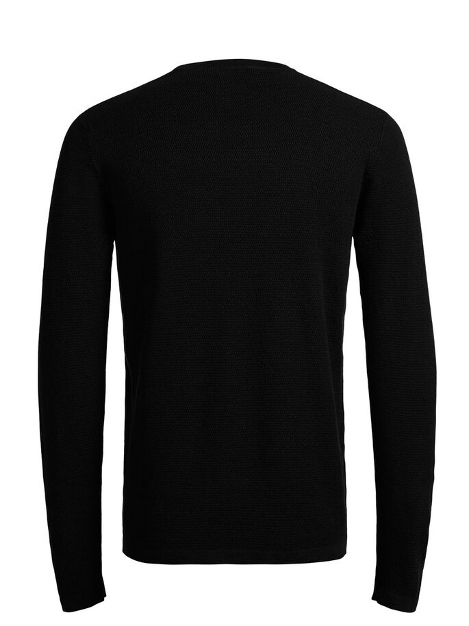 MICRO STRUCTURE PULL EN MAILLE, Black, large