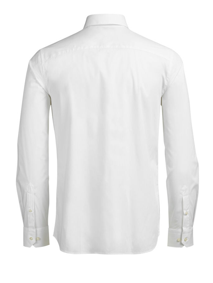 FORMEL SLIM FIT LONG SLEEVED SHIRT, White, large