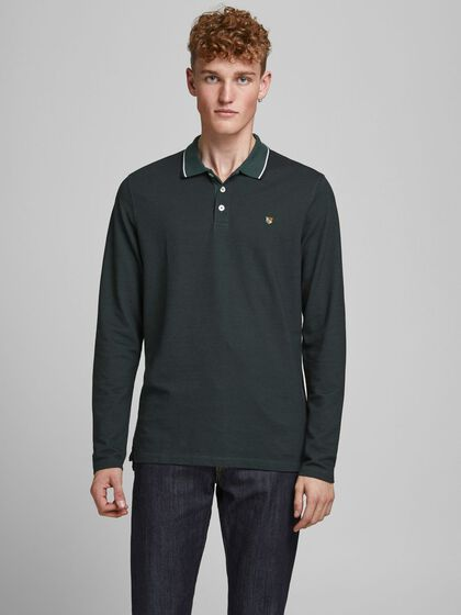 PIQUE LONG-SLEEVED POLO
