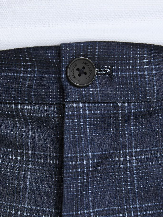 MARCO PHIL CHECKED CHINOS, True Navy, large