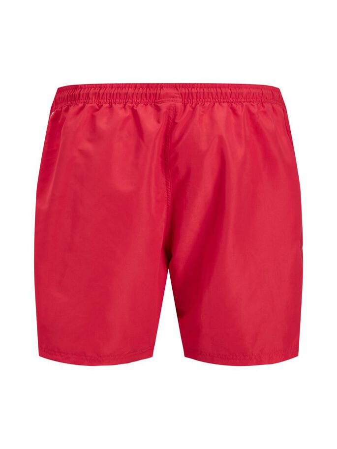 BALI SOLID PLUS SIZE SWIM SHORTS, Flame Scarlet, large