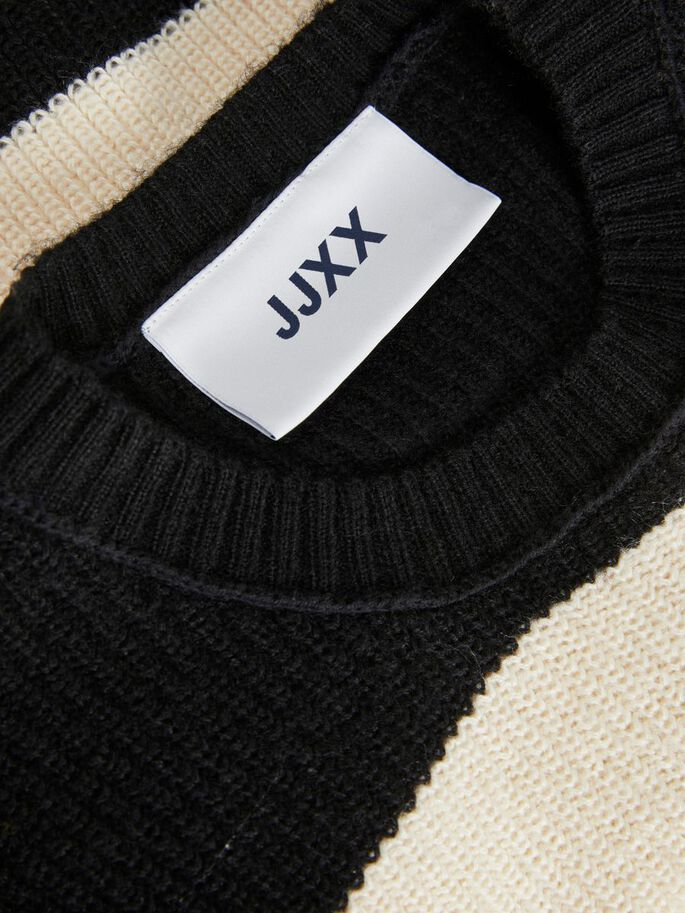 JXPAXIE KNITTED PULLOVER, Black, large