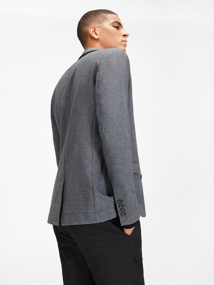 SWEAT- BLAZER, Dark Grey Melange, large