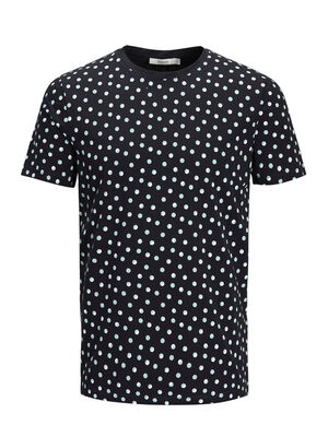 JACK & JONES Minimalprint T-shirt Herren Schwarz | 5713736950918