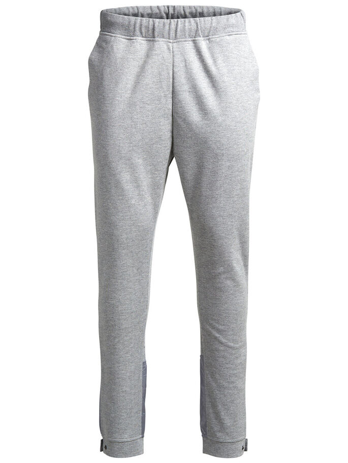 DÉTAILS JOGGING EN MOLLETON, Light Grey Melange, large