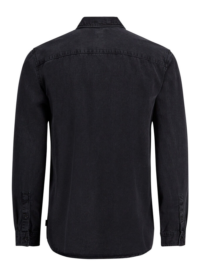 CASUAL OVERHEMD MET LANGE MOUWEN, Dark Grey, large