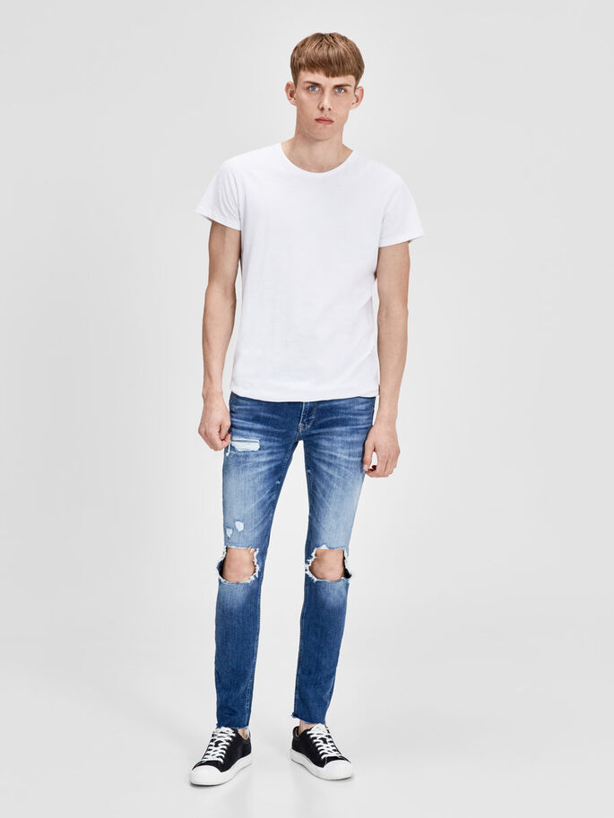 LIAM ORIGINAL 055 50SPS SKINNY FIT JEANS, Blue Denim, large