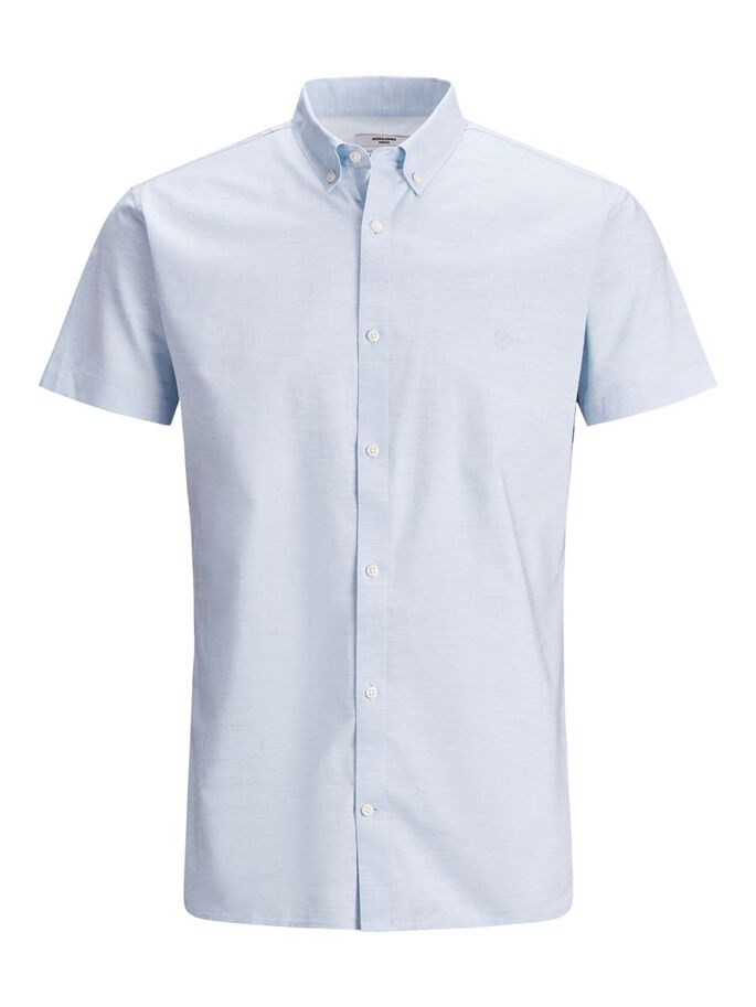BUTTON-DOWN POPELINE KURZARMHEMD, Cashmere Blue, large