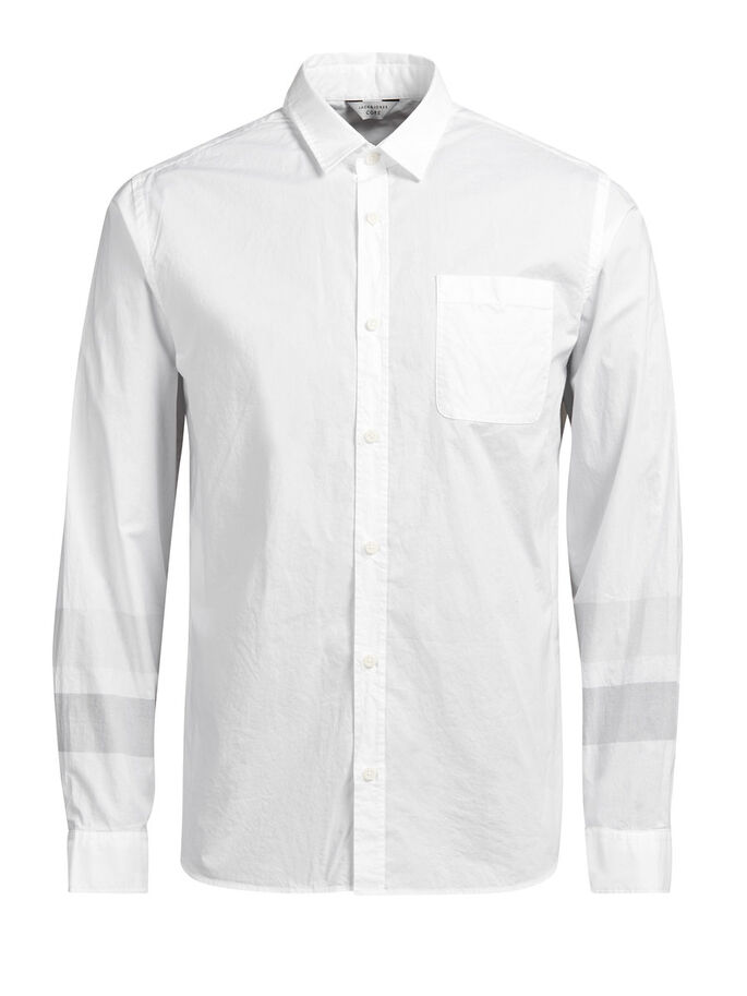 URBAN CASUAL OVERHEMD, White, large