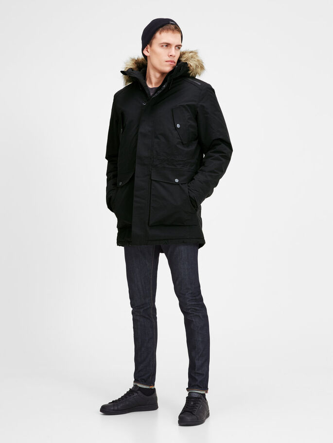 PARKA TECHNIQUE PARKA, Black, large