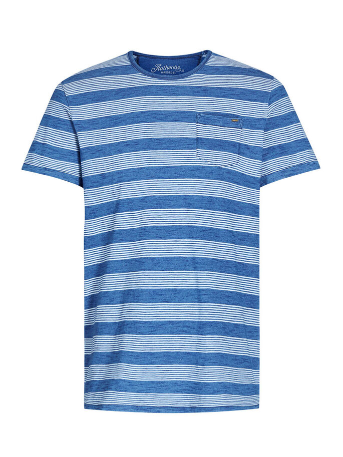 RAYURES T-SHIRT, Mood Indigo, large