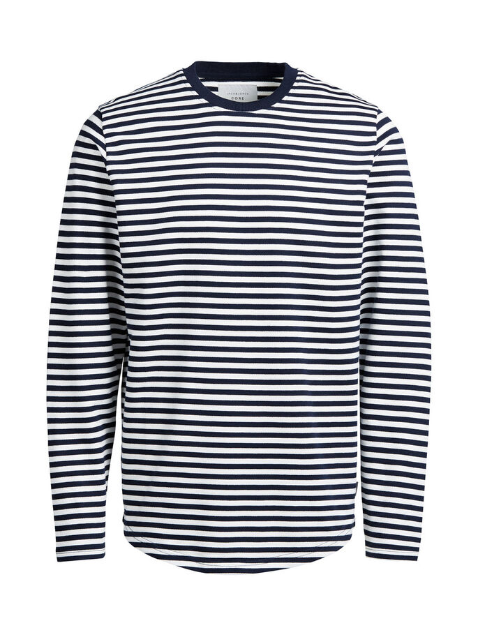 STRIPED SWEATSHIRT, Blanc de Blanc, large