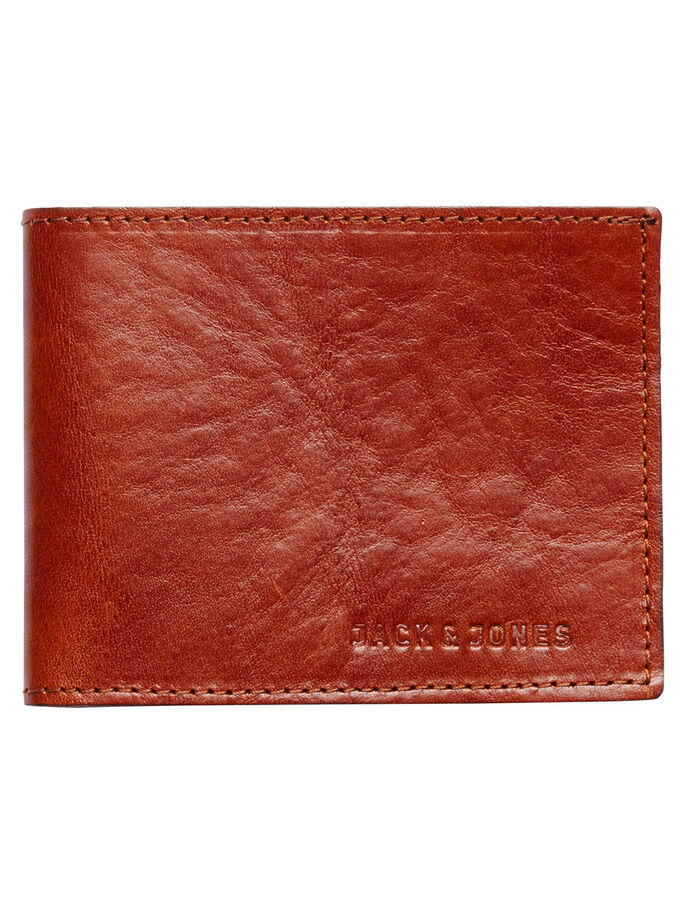 LEATHER WALLET, Cognac, large