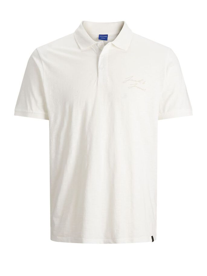MELANGE DE AJUSTE REGULAR POLO, Cloud Dancer, large