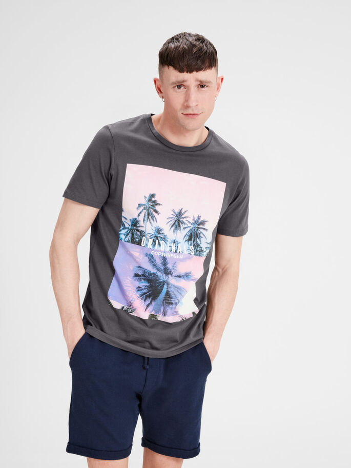 PRINTED T-SHIRT, Asphalt, large