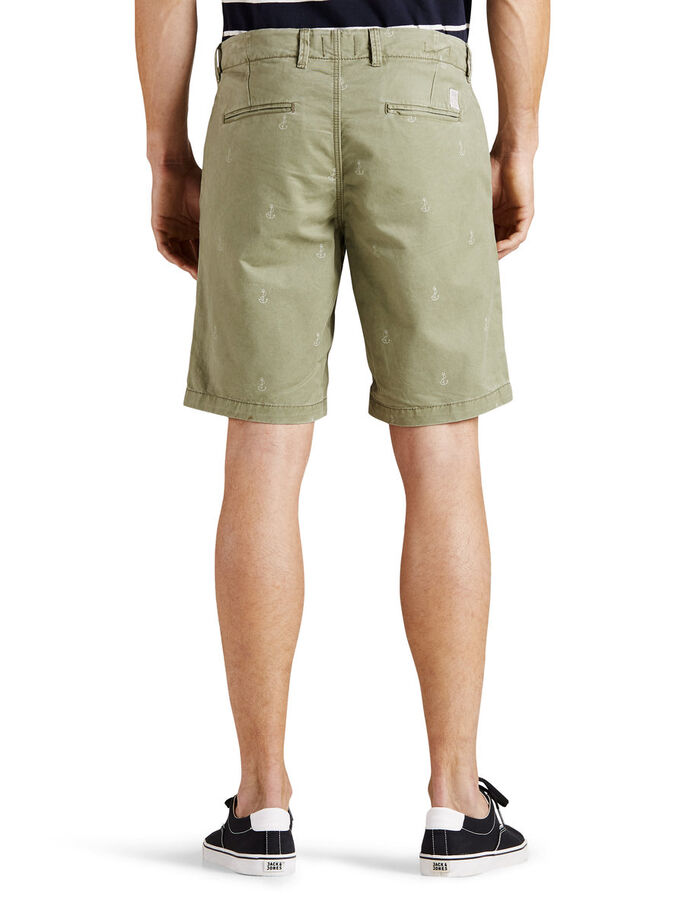 GRAHAM SHORT CHINO, Deep Lichen Green, large