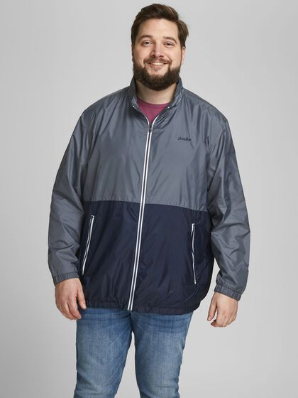 RECYCLED POLYESTER BLEND PLUS SIZE JACKET