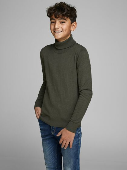 BOYS ROLL NECK KNITTED PULLOVER
