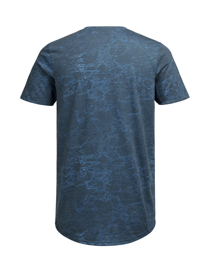 CON STAMPA EFFETTO MARMO T-SHIRT, Black, large