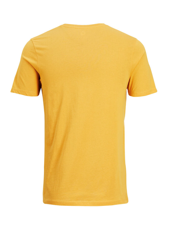 GRAFISCHES T-SHIRT, Golden Orange, large