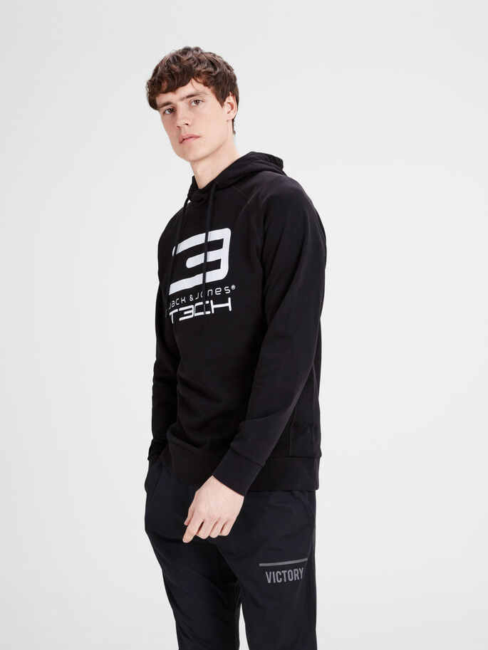 LOGO- SWEATSHIRT, Black, large