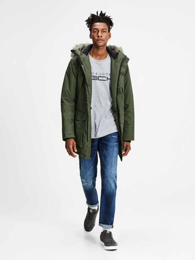 IMPERMEABLE PARKA, Olive Night, large