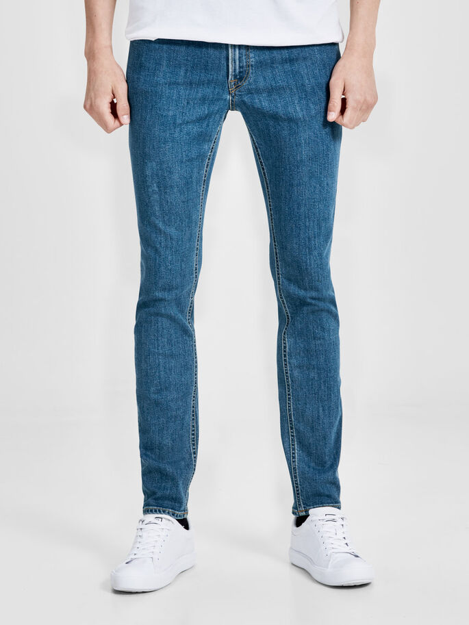 LIAM ORIGINAL AM 694 SKINNY FIT JEANS, Blue Denim, large