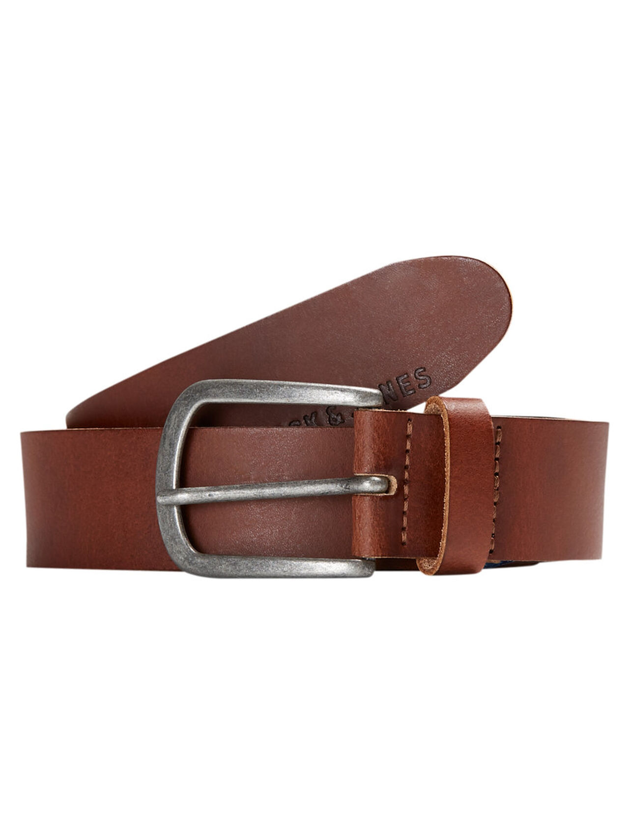 JACK & JONES Leather Belt Men Brown