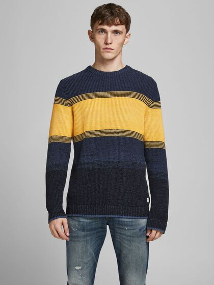STRIPED KNITTED PULLOVER